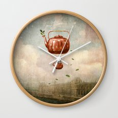 Tea for Two at Dusk Wall Clock