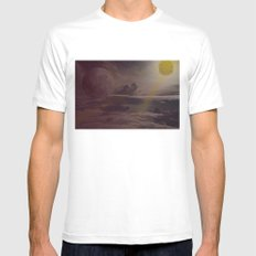 Bright Skies SMALL Mens Fitted Tee White
