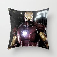 Iron Man: Dreaming Big Throw Pillow