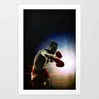 Olympic game boxe Art Print