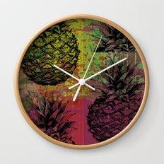 PineApple Fiesta Wall Clock