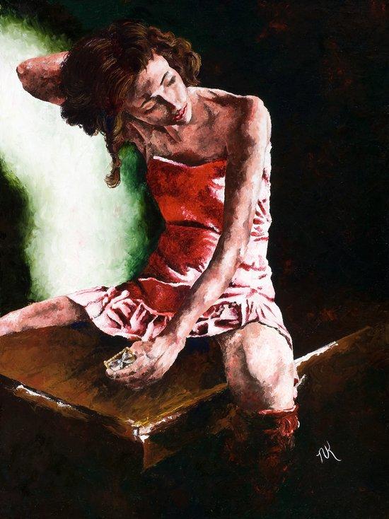 Aging Ballerina Art Print