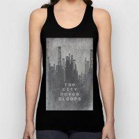 The City Never Sleeps Unisex Tank Top