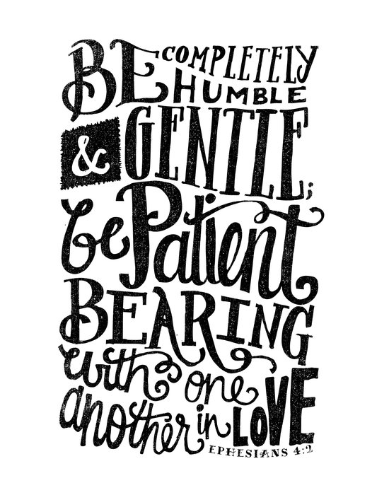 BE GENTLE BE PATIENT Canvas Print