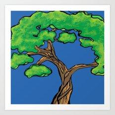 tree love Art Print