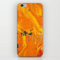 Orange Marble iPhone & iPod Skin