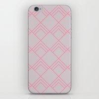 Diamond Art Deco; - Pink iPhone & iPod Skin