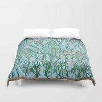 Flower Wall Duvet Cover