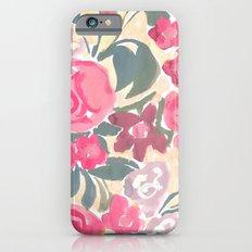 Cream Floral iPhone 6 Slim Case