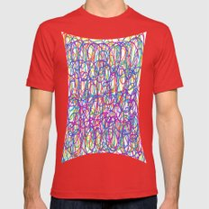 Curly_art Mens Fitted Tee Red SMALL