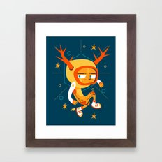 Space Deer Framed Art Print