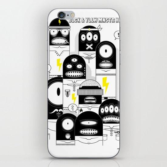 BLCK & YLLW MNSTR HROS iPhone & iPod Skin