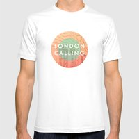Songs And Cities: London… Mens Fitted Tee White SMALL