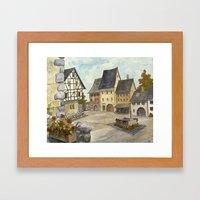 German Village Framed Art Print