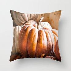 Autumn Pumpkins Throw Pillow