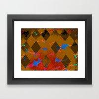 Argyle Frenzy in Citrine Framed Art Print