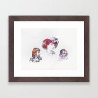 'The Three Flower Girls' Framed Art Print