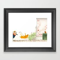 Bad Dog Framed Art Print