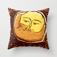 Conjunction moon and planet Throw Pillow