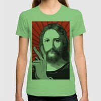 Jesus Bane #00 Womens Fitted Tee Grass SMALL