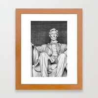 Abraham Lincoln at the Lincoln Memorial Framed Art Print