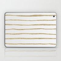 Gold Stripes Laptop & iPad Skin