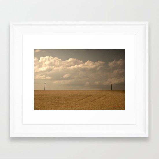 """I could read the sky"" Framed Art Print"
