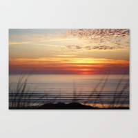 Sunset Surf Gwithian Bay Canvas Print