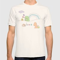 Funland 4 Mens Fitted Tee Natural SMALL
