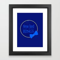 Time Lord of the Rings Framed Art Print
