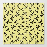 loves me loves me not pattern - banana yellow Canvas Print