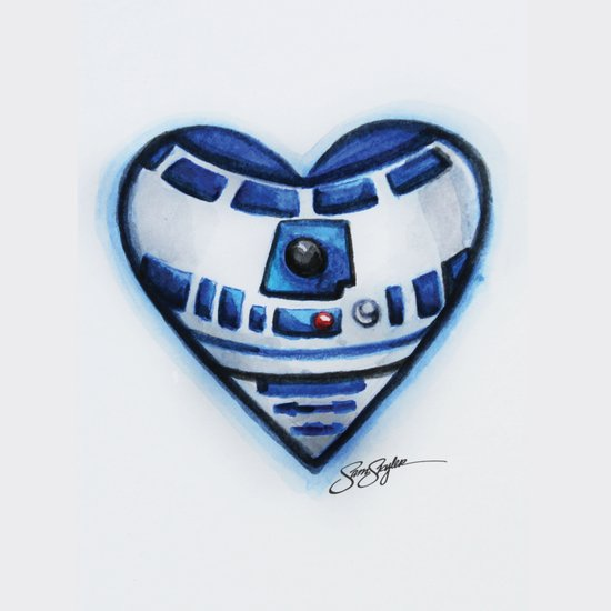 R2D2 Star Wars Heart Art Print