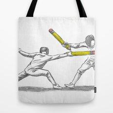 Parry Thrust Pencil Erase Tote Bag