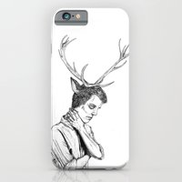 iPhone & iPod Case featuring Stag Boy by Kirsten McNee