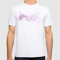 Watercolor landscape illustration_Istanbul Mens Fitted Tee Ash Grey SMALL