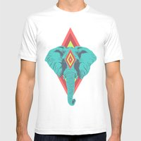 Neon Elephant Mens Fitted Tee White SMALL