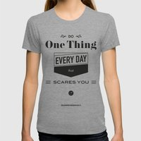 Roosevelt Quote, USA Pre… Womens Fitted Tee Tri-Grey SMALL