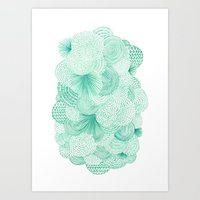 Green Fields Art Print