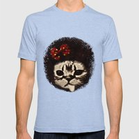 Cat (Pack-a-cat) Mens Fitted Tee Tri-Blue SMALL