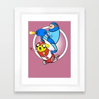 Jump And Shoot Time!! Framed Art Print