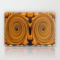 Orange swirl Laptop & iPad Skin