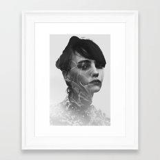 Lady Leaves Framed Art Print