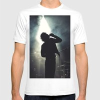 Faris Badwan of The Horrors Mens Fitted Tee White SMALL