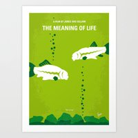 No226 My The Meaning of life minimal movie poster Art Print
