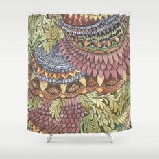 Quilted Forest: The Owl Shower Curtain