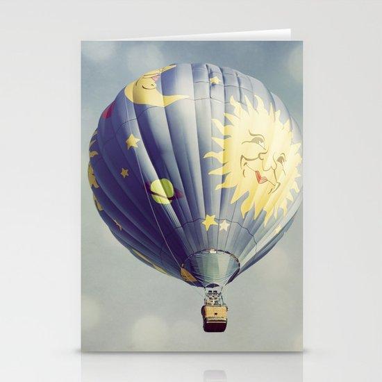 Moon and Stars Hot Air Balloon Stationery Card