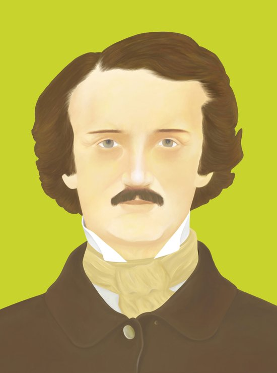 Poe-faced Art Print