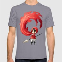 Red Cape Mens Fitted Tee Slate SMALL