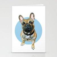 French Bulldog blue spot. Stationery Cards