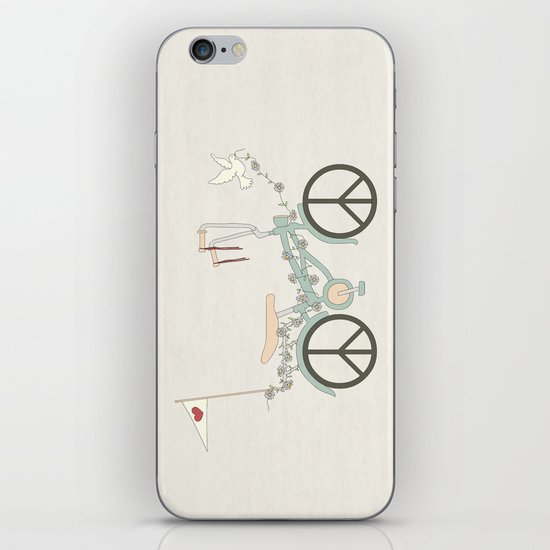 Peace & Love iPhone & iPod Skin